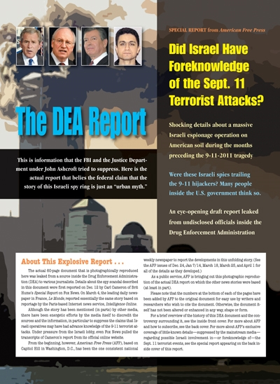 The DEA Report: Did Israel Have Foreknowledge of the Sept. 11 Terrorist Attacks? 9-11, terrorism
